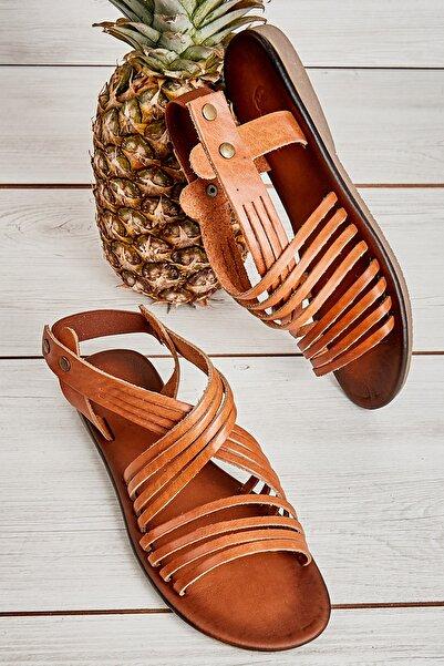 Bambi Taba Kadın Sandalet L0685222203