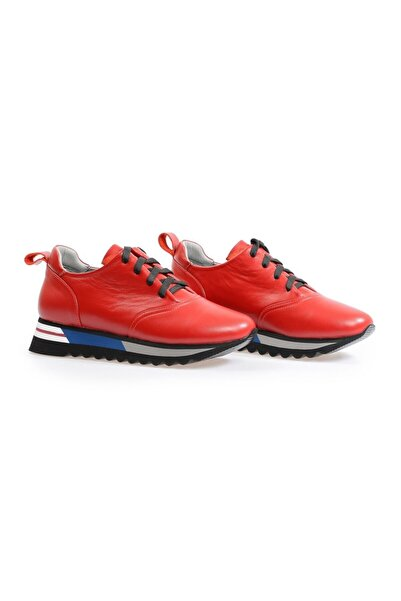 Flower Kırmızı Taban Detaylı Kadın Sneaker