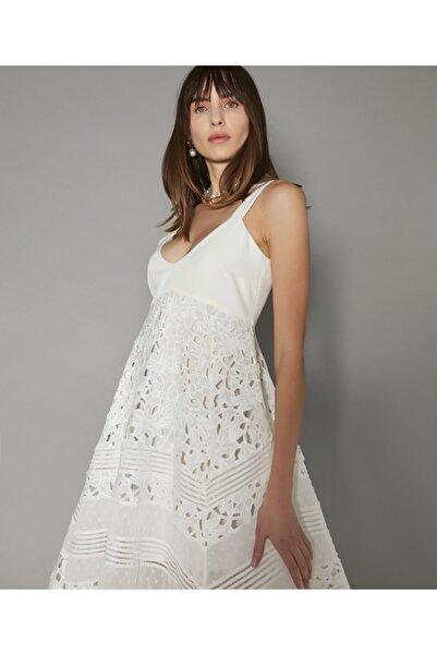 İpekyol Asimetrik Kesim Güpür Elbise
