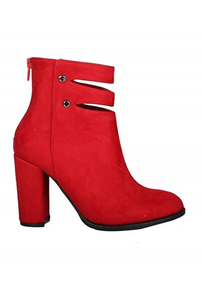 PUNTO 419006 Kırmızı Süet Kadın Bot