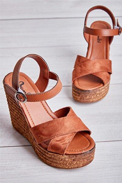 Bambi Taba Kadın Açık Ayakkabı L0522220065