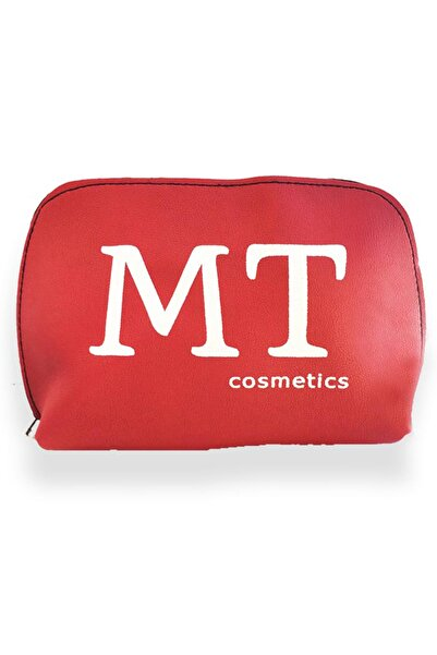 Makeuptime Mt Mat Deri Makyaj Çantası Kırmızı