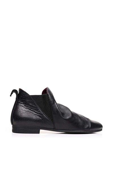 BUENO Shoes Lastikli Ve Büzgülü Hakiki Deri Kadın Düz Bot 9p5903