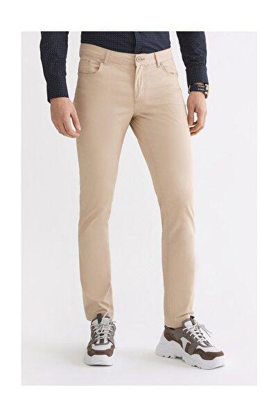 Avva Erkek Bej 5 Cepli Düz Slim Fit Pantolon A92y3092