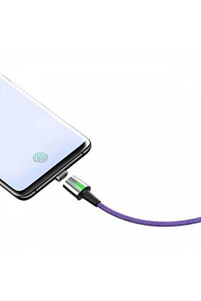 Baseus Magnetic Mıknatıslı 3a Usb Kablo Şarj Usb Type C Başlık Huawei Samsung Xiaomi Şarj 1metre