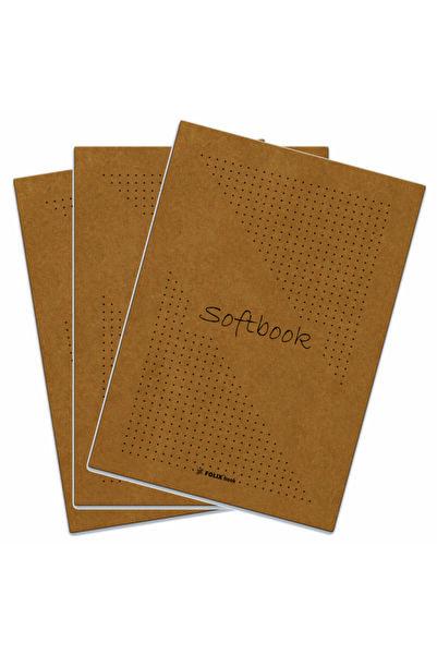 Etika Softbook Noktalı Defter 15,5x23 Cm Kraft Kapak 50 Yaprak 3'lü Paket