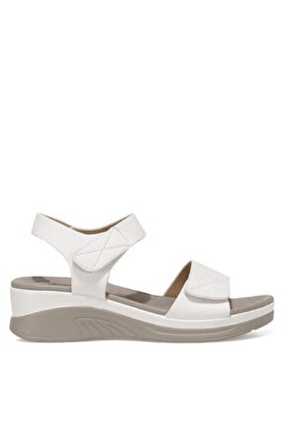CLINTTUN 1FX Beyaz Kadın Kalın Tabanlı Sandalet 101027779