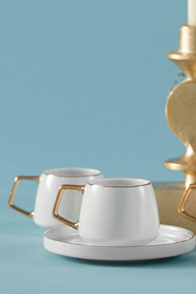 Karaca Saturn 6 Kişilik Porselen Kahve Fincan Takımı