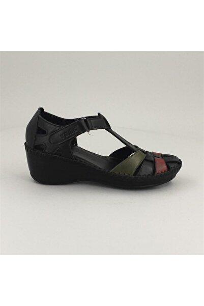 Venüs 18791382 Comfort Taban Hakiki Deri Sandalet 1720 Siyah