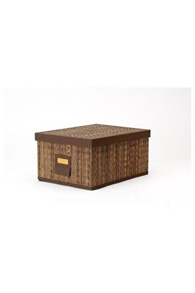 IKEA Organizer Kapaklı Kutu 28x35x18 Cm Palmiye Yaprağı Meridyendukkan Düzenleyici Kutu