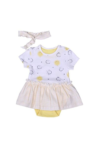 kitikate Bebek Yellow Organik Dreams Yellow Saç Bantlı Jile Body 62410
