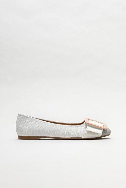 Elle Shoes Kadın Beyaz Babet