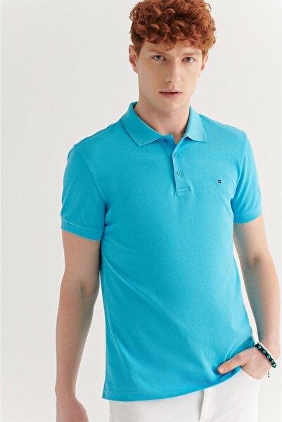 Avva Erkek Aqua Polo Yaka Düz T-shirt E001004