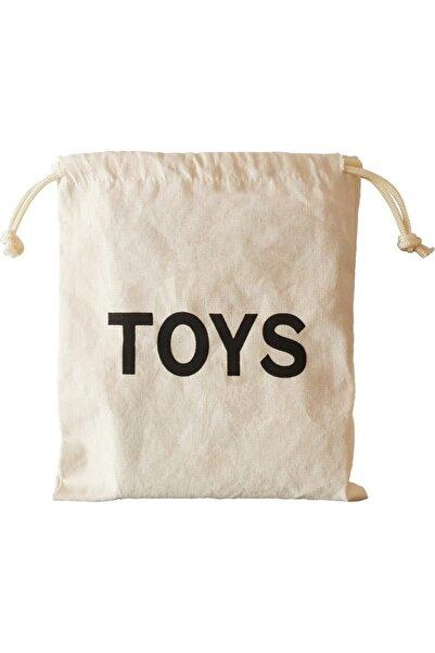 BugyBagy 23x27cm Ebadında Toys Figürlü Kanvas Oyuncak Ve Çamaşır Saklama Torbası