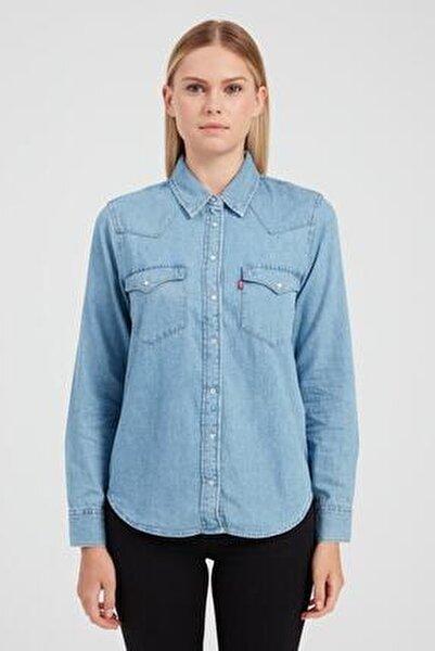 Kadın Mavi Gömlek 86832-0001