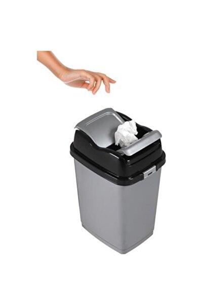 Dünya Plastik Metalik Siyah Easy Çöp Kovası  35 lt