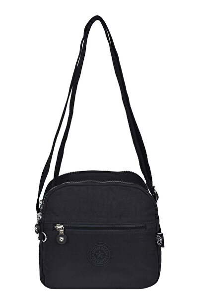 SMART BAGS Kadın  Siyah  Krinkıl Kumaş Çapraz Çanta 3058
