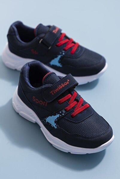 Baybaco Lacivert Kırmızı Çocuk Spor Ayakkabı (26-35)