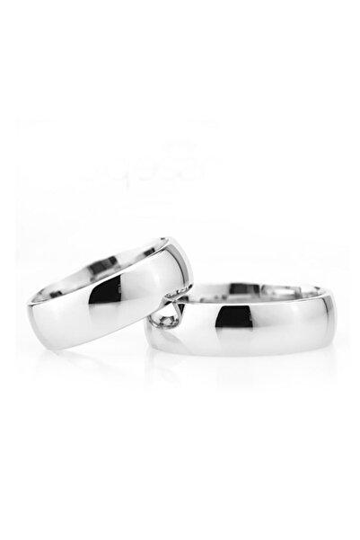 Gümüşcüm Kadın Bombeli 6 mm Gümüş Alyans Nişan Ve Söz Yüzüğü