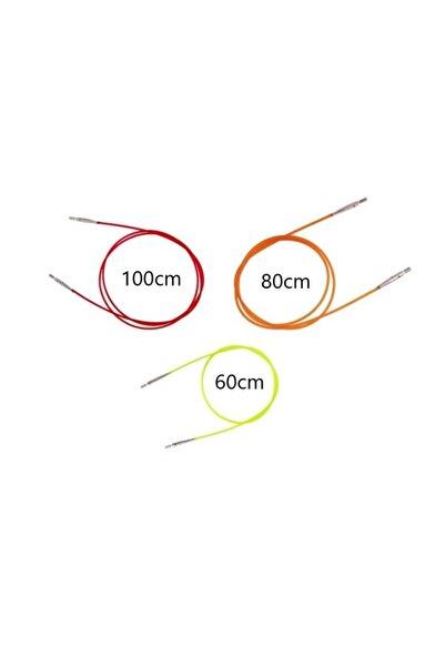 KnitPro Misina Şiş Kablosu 60-80-100 Cm 3lü Set