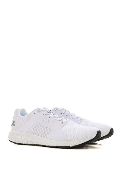 EA7 Unisex Beyaz Bağcıklı Sneaker Xk044