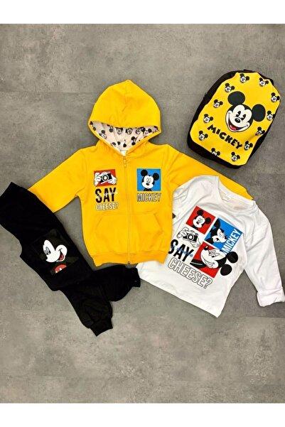 Mickey Mouse Erkek Çocuk Çantalı Takım 4'lü