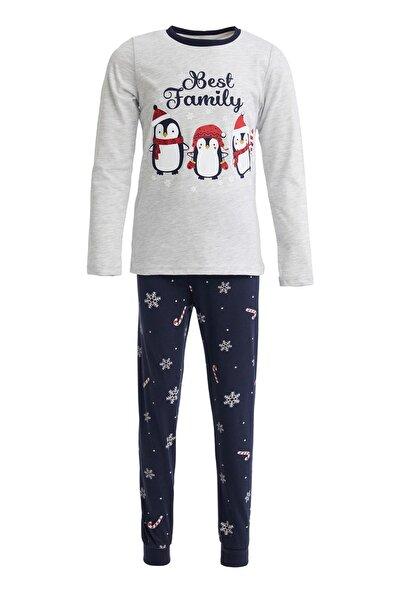 DeFacto Erkek Çocuk Yılbaşı Temalı Pijama Takımı