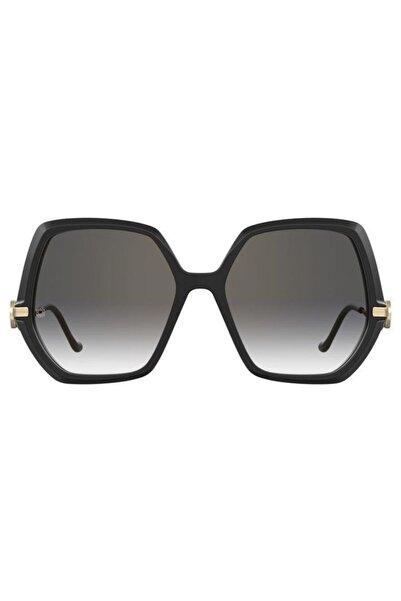 Elie Saab Elıe Saab Kadın Siyah Güneş Gözlüğü Es080/s 807fq2