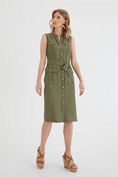 Chima Cepli Gömlek Elbise