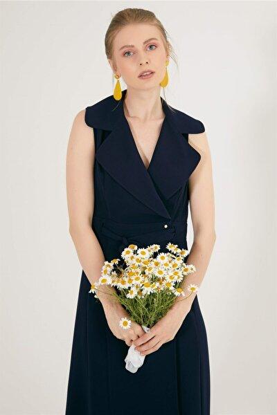 Chima Kolsuz Kruvaze Elbise