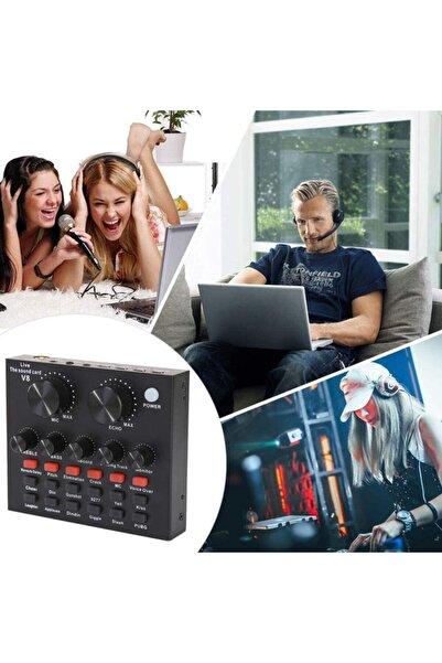 Techno phone Profesyonel Youtube Ve Web Canlı Yayın Için Bluetooth Fonksiyonlu Harici Usb Mikrofon Ses Kartı
