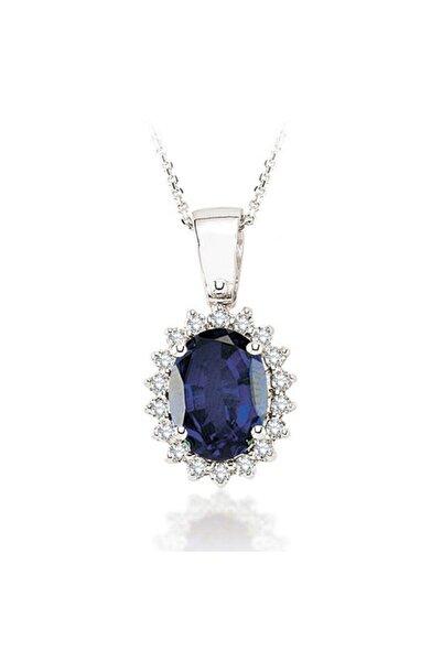 EMEL DIAMOND 1.73 Karat Pırlanta Safir Kolye