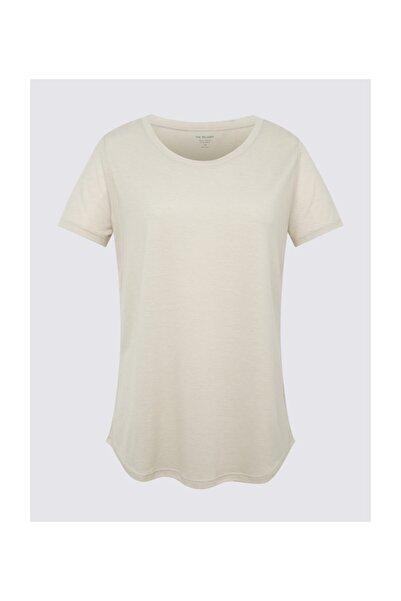Marks & Spencer Kadın Bej Kısa Kollu Relaxed T-Shirt T41001299H