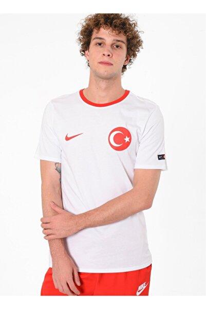 Nike Erkek Tişört White/university Red Türkiye Forma 888361-100
