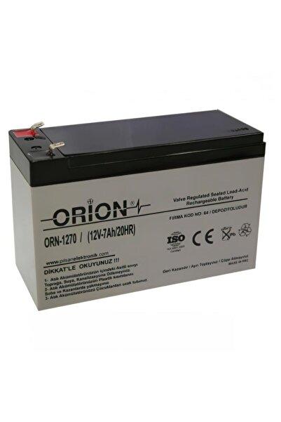 Orion Orn1270 12v7.0ah Bakımsız Kuru Akü T2 Soket - 05/2020 Üretim