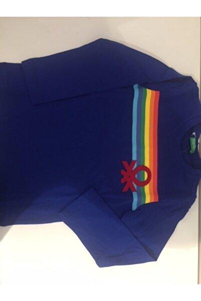Benetton Erkek Çocuk Logolu Uzun Kollu Tshırt