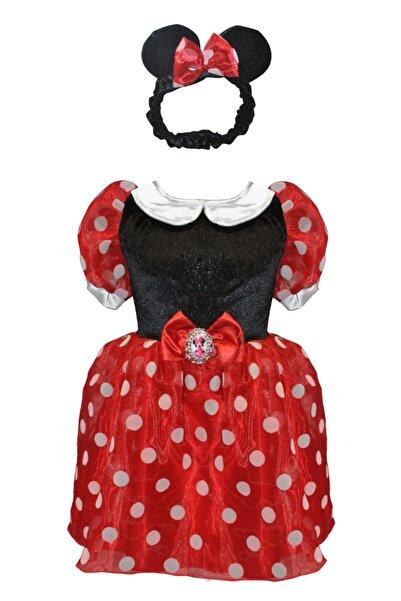 MINNIE Kız Çocuk Kırmızı Minnie Mouse Kostüm