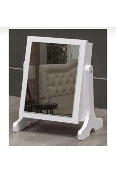Noowa Aynalı Takı Dolabı Beyaz