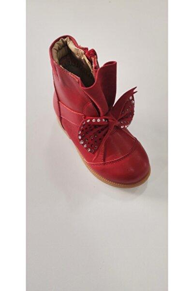 Vicco Kız Çocuk Deri Kırmızı Çizme Bot