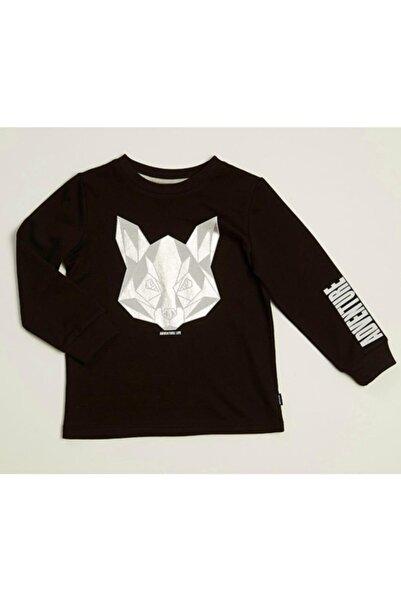 Wonder Kıds Erkek Çocuk Siyah Sweatshirt