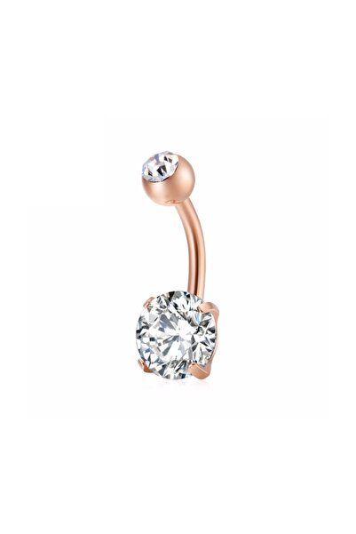 Chavin Beyaz Taşlı Rose Çelik Göbek Piercing Dt91rs