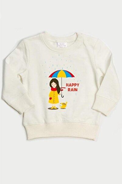Wonder Kıds Wonder Kids Kız Bebek Ekru Uzun Kollu Sweatshirt Wk20aw2014-e