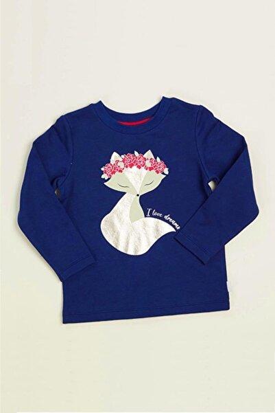 Wonder Kıds Kız Çocuk Lacivert Uzun Kollu Sweatshirt Mk20aw4012-l