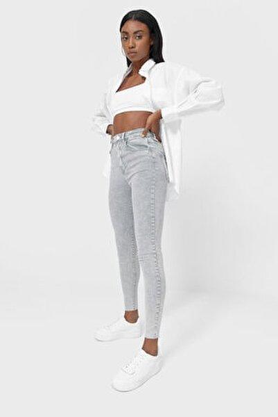 Kadın Koyu Gri Süper Yüksek Bel Pantolon 01120819