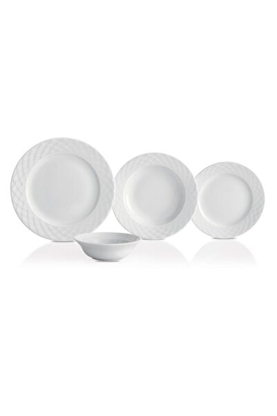 Güral Porselen Beyaz 48 Parça 12 Kişilik Yemek Takımı