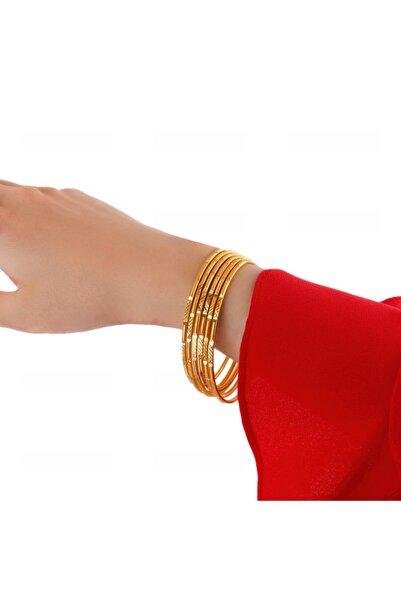 Yıldız Gold İmitasyon 22 Ayar Altın Kaplama Desenli Ajda Bilezik