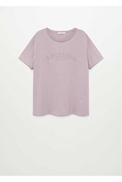 Violeta by MANGO Aşınmış Görünümlü Yazılı Tişört