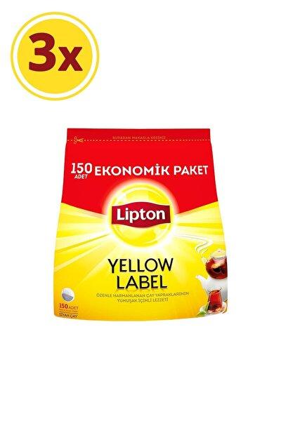 Lipton Yellow Label Demlik Poşet Çay 150'li X 3 Adet