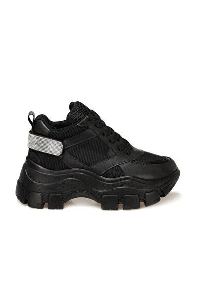 Butigo Siyah Kadın Bağcıklı Sneaker Ayakkabı