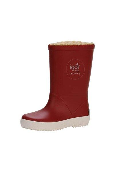 IGOR Kız Çocuk Kırmızı Içi Kürklü Yağmur Botu